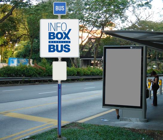 InfoBus Marbella, publicidad en las paradas de autobús de marbella